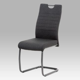 Jídelní židle DCL-417 GREY2, látka šedá/kov matná antracit