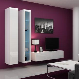 Obývací stěna VIGO 10, bílá/bílý lesk