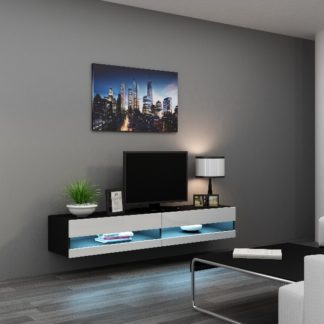 """Televizní stolek VIGO NEW """"180"""", černá/bílý lesk"""
