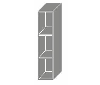PLATINUM, skříňka horní W15, grey