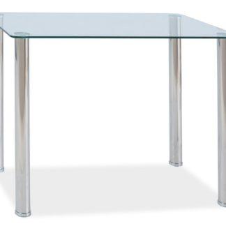 Jídelní stůl TED, kov/sklo