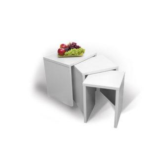 HAPPY, konferenční stolek PIKOLO 3D, bílá