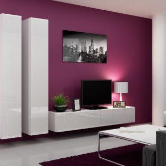 Obývací stěna VIGO 4 A, bílá/bílý lesk