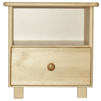 Noční stolek TINA S1, masiv borovice, moření: ...