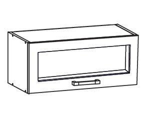 TAL 2 horní skříňka GO80/36, korpus congo, dvířka milo