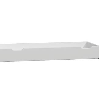 Úložný prostor pod postel 150 cm, masiv borovice/moření bílá