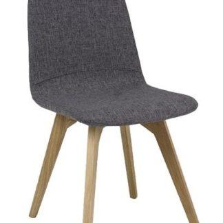 Jídelní čalouněná židle ARES, šedá/dub