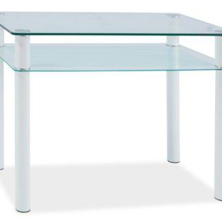 Jídelní stůl SONO 80x60 cm, kov/sklo
