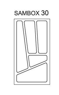 Pořadač do zásuvek SAMBOX, 30 cm