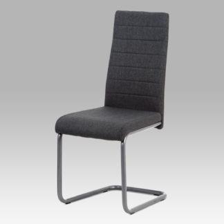Jídelní židle DCL-400 GREY2, látka šedá/kov matný antracit