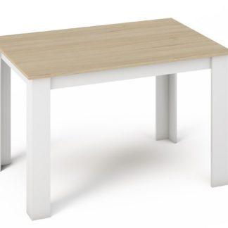 Jídelní stůl KONGO 120x80, sonoma/bílá