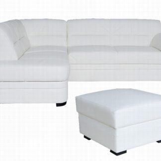 Kožená rohová sedačka NEVADA, bílá - kůže B-1, levá