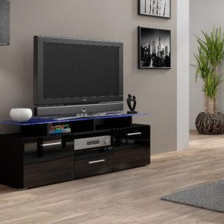 Televizní stolek RTV EVORA MINI, černá/černý lesk