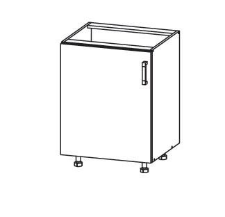 FIORE dolní skříňka D60, korpus ořech guarneri, dvířka bílá supermat