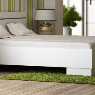 VISTA postel 160x200 cm s roštem, bílá