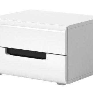 HEKTOR noční stolek TYP 22, bílá/bílý lesk
