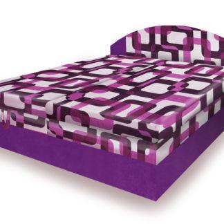 Polohovací čalouněná postel VESNA 180x200 cm, fialová látka