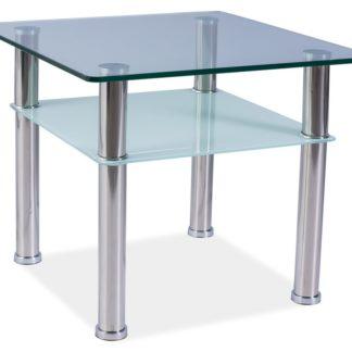 Konferenční stolek PURIO C, kov/sklo