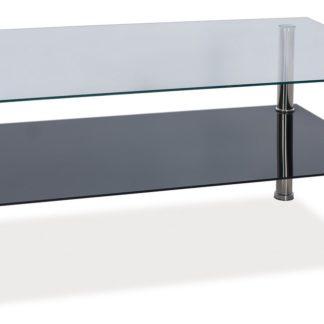 Konferenční stolek TESSA, kov/sklo