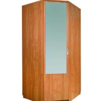 Šatní skříň rohová se zrcadlem, barva: