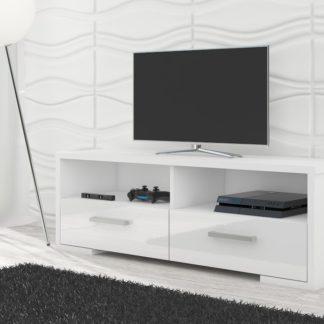 TV stolek ROMA, bílá/bílý lesk