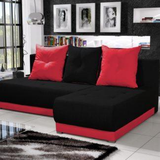 Rohová sedačka INSIGNIA 1, černá/červená