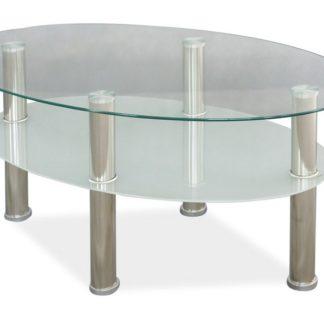 Konferenční stolek LEO A, sklo/chrom