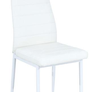 Jídelní čalouněná židle H-261B, bílá