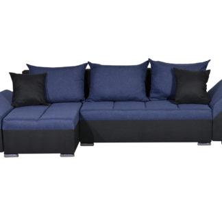 Rohová sedačka KORFU 6, modrá/černá