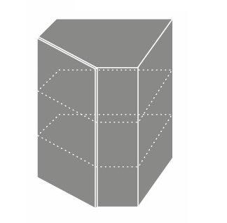PLATINUM, skříňka horní rohová W 10, korpus: grey, barva: white