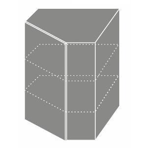 EMPORIUM, skříňka horní rohová W9 60, korpus: jersey, barva: light grey stone