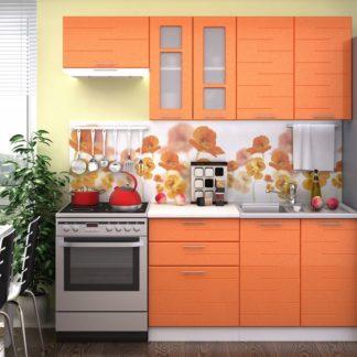 Kuchyně TECHNO 140/200, oranžová metalic
