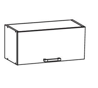 PLATE PLUS horní skříňka GO80/36, korpus šedá grenola, dvířka bílá perlová