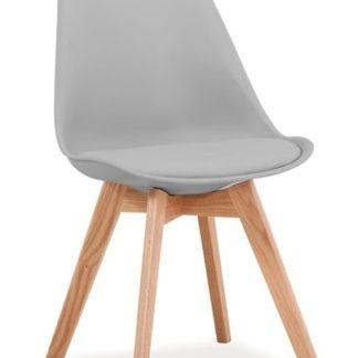 Jídelní židle KRIS, světle šedá/dub