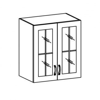 SYCYLIA, skříňka horní se sklem G60S, borovice andersen