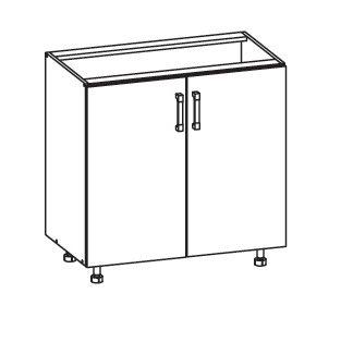 FIORE dolní skříňka D80, korpus congo, dvířka bílá supermat