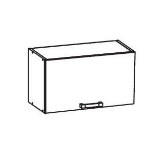 FIORE horní skříňka GO60/36, korpus ořech guarneri, dvířka bílá supermat