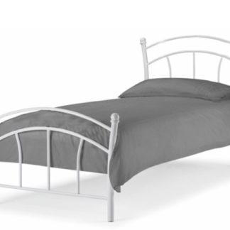 BURZUM kovová postel s roštem 90x200 cm, bílá