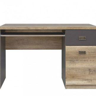 Elegantní PC stůl MALCOLM, BIU1D1S, dub canyon monument/šedý wolfram