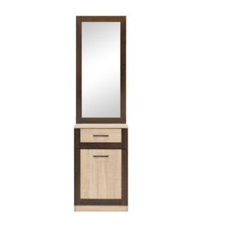 BS 14 - BOSS skříňka se zrcadlem BS14, dub sonoma/dub čokoládový