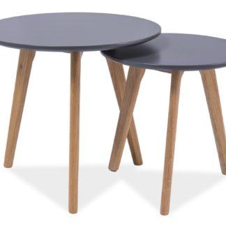 Konferenční stolky- sestava MILAN S2, šedá/dub