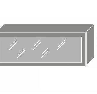 PLATINUM, skříňka horní prosklená W4bs 90 MDF, korpus: lava