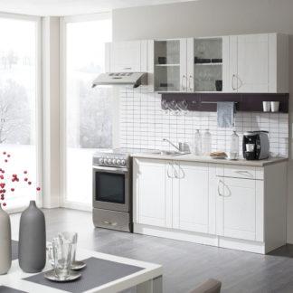 Kuchyně ADELA 150/210 cm, korpus bílý/dvířka pino aurelio