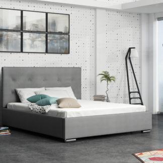 Čalouněná postel SOFIE 1 160x200 cm, šedá látka