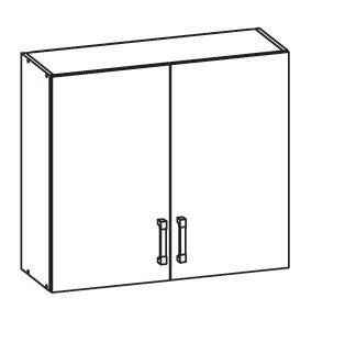 FIORE horní skříňka G80/72, korpus ořech guarneri, dvířka bílá supermat