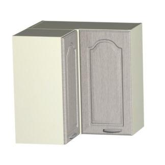 JULA horní rohová skříňka H 60 RM, korpus vanilka/dvířka magnolie
