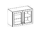 CHAMONIX, skříňka horní 80 GS-72, dub Ferrara/ legno tmavé