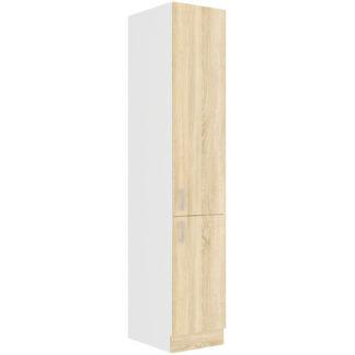 SARA SONOMA, skříňka vysoká 40 DK-210 2F, bílá/dub sonoma