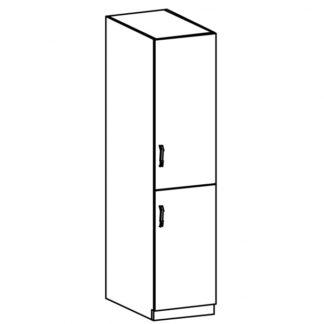 LUNA, vysoká skříňka D40SP pravá, dub sonoma/ecru