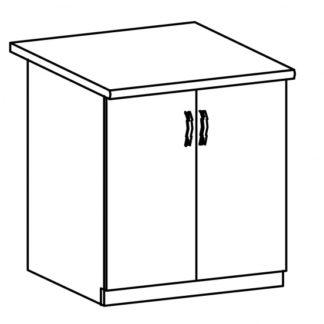 LUNA, skříňka dolní D60, dub sonoma